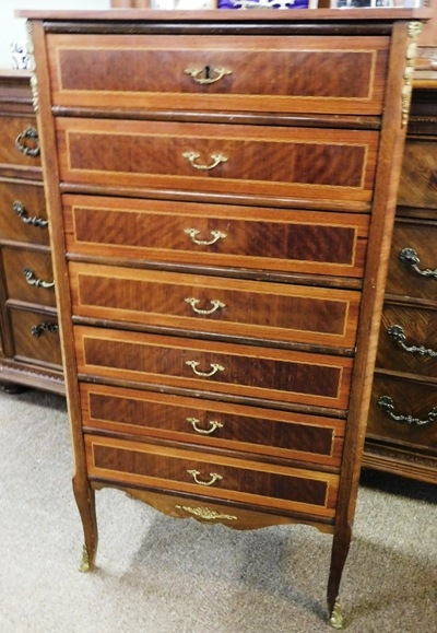 7-DRAWER NARROW FRENCH STYLE CHEST