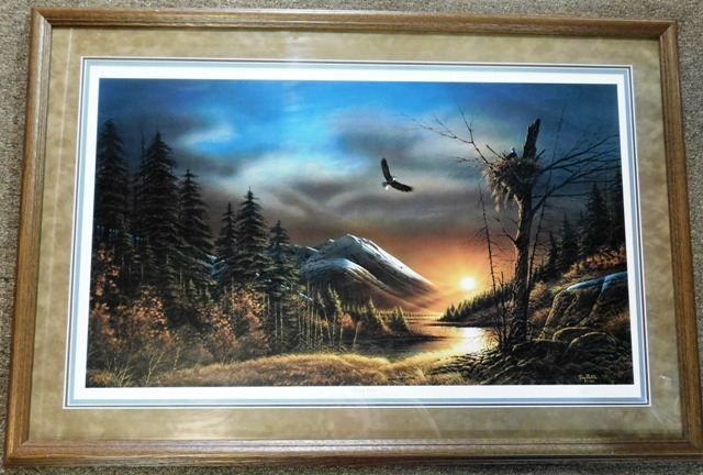 "FR-MATT-SIGNED ""Flying Free"" PRINT, TERRY REDLIN"