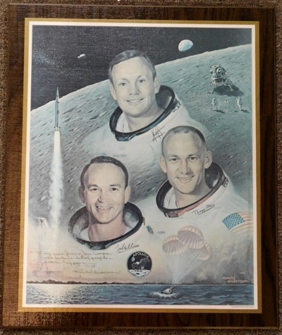 APOLLO II Laminated Poster signed by Ronald Anderson (artist)