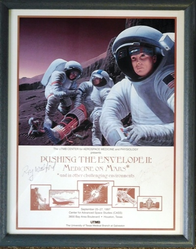 """PUSHING THE ENVELOPE II: MEDICINE ON MARS"" signed by artist, Ray Walford"