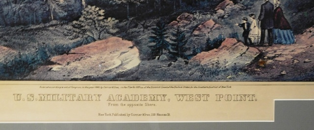 "vIEW 2~""U.S.Military Academy, West Point, From the Opposite Shore"" PRINT"