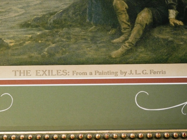 "VIEW 2~""THE EXILES: (Print) FROM A PAINTING BY J.L.G.FERRIS"