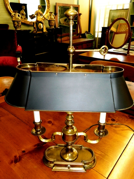 DOUBLE-ARM BRASS DESK LAMP