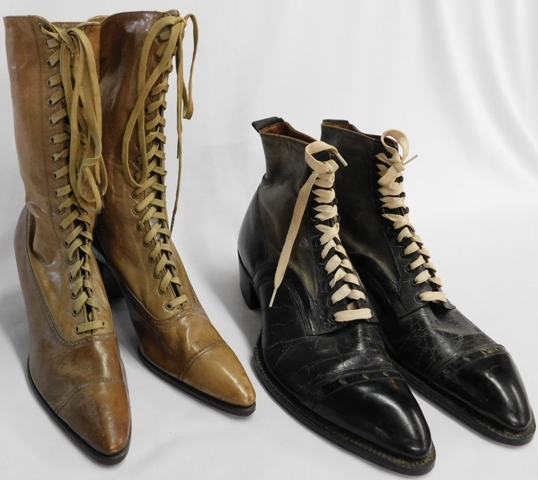 ANTIQUE LADIES & MEN'S HIGH TOP SHOES