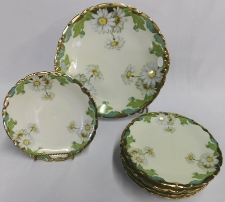 BAVARIA H.P. CHINA CAKE PLATE & SERVING PLATES