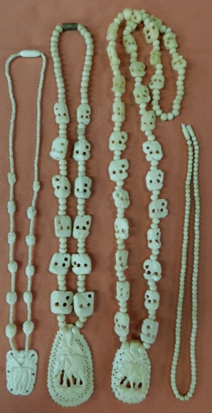 CARVED BONE ELEPHANT NECKLACES