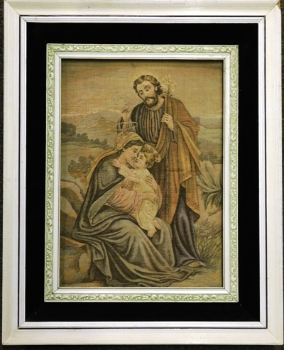 FRAMED TAPESTRY (MARY, JOSEPH & THE CHRIST CHILD)