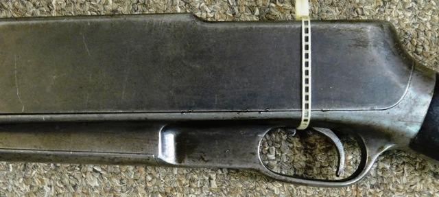 View 3~1910 STANDARD ARMS RIFLE, ENGRAVED GRASS BUTT PLATE, 25 cal.