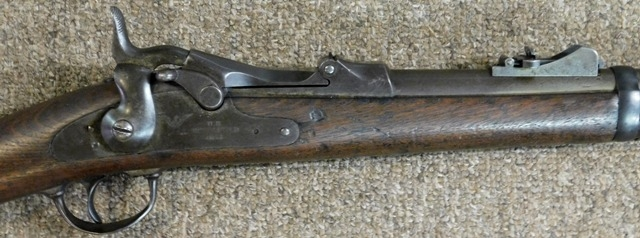 View 4~1873 US SPRINGFIELD CARBINE, CLEANING ROD IN STOCK