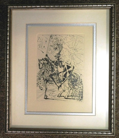FR-MATT ORIG. ETCHING OF EL CID BY SALVADOR DALI
