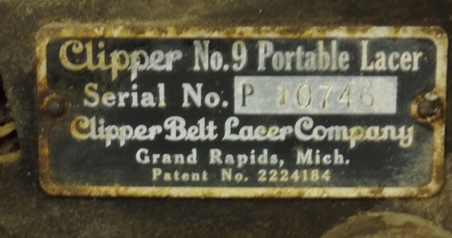 View 2~CLIPPER PORTABLE LACER