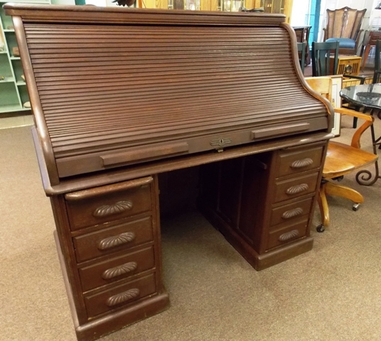 """52"""" S-CURVE 1900'S ROLL TOP DESK"""