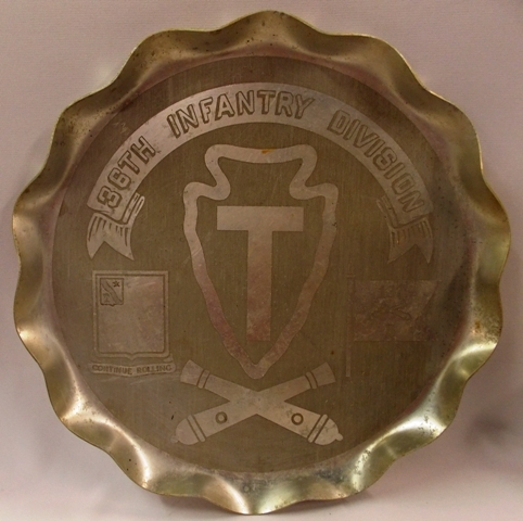 36th INFANTRY DIV, 133B, CONTINUE ROLLING COMMERATIVE TRAY