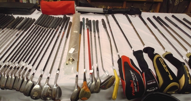 COLLECTION OF GOLF CLUBS...  See Text For More Info
