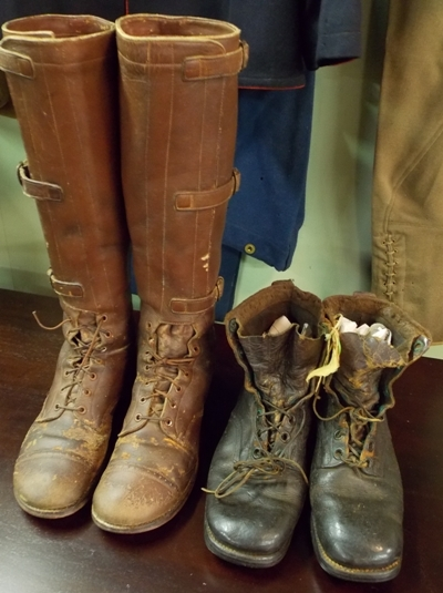 1930's CAVALRY RIDING BOOTS + WW ii HOPNAILED BOOTS