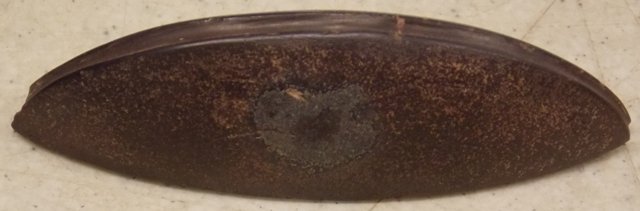 View 2~RARE RED HEMATITE GROOVE ON CURVED EDGE