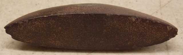 View 3~RARE RED HEMATITE GROOVE ON CURVED EDGE