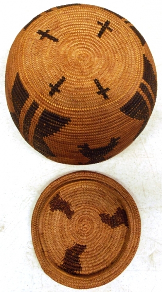 VIEW 2~ APACHE BASKET WITH  LID
