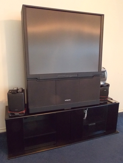 Hitachi Projection TV & Stand