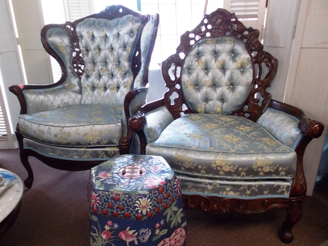 ORNATE FRAMED CHAIRS (PAIR LADIES AND...