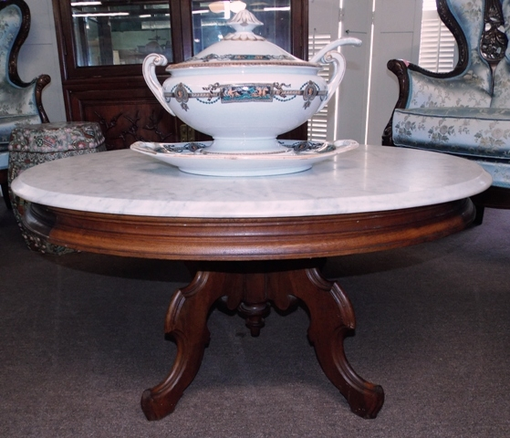 LATE 1800'S OVAL VICTORIAN LAMP TABLE CUT DOWN...