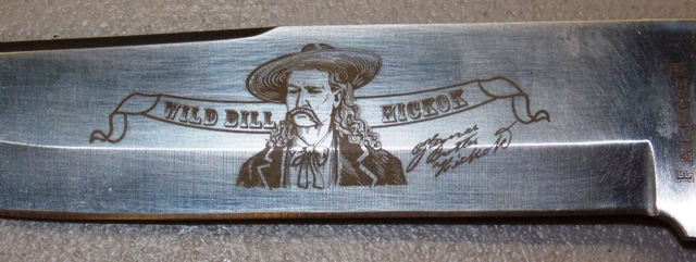 View 2~WILD BILL HICKOK COLLECTOR KNIFE IN CASE