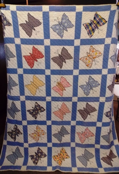 """68x80"""" 1930's BUTTERFLY QUILT"""