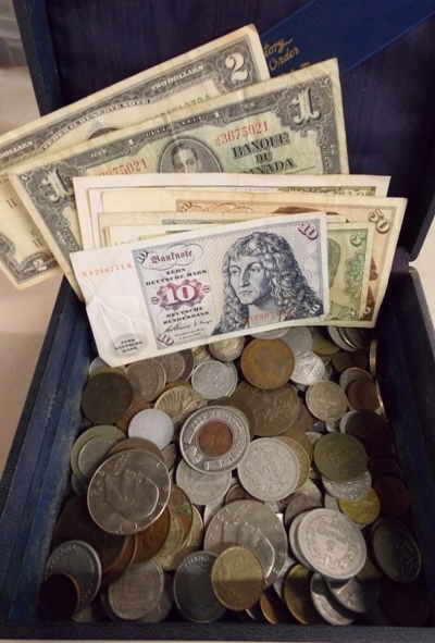FOREIGN COINS-CURRENCY