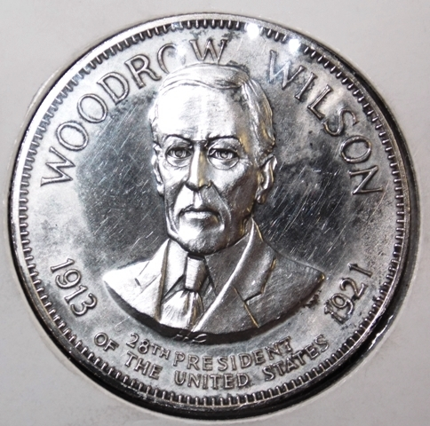 WOODROW WILSON STERLING COMMERATIVE COIN