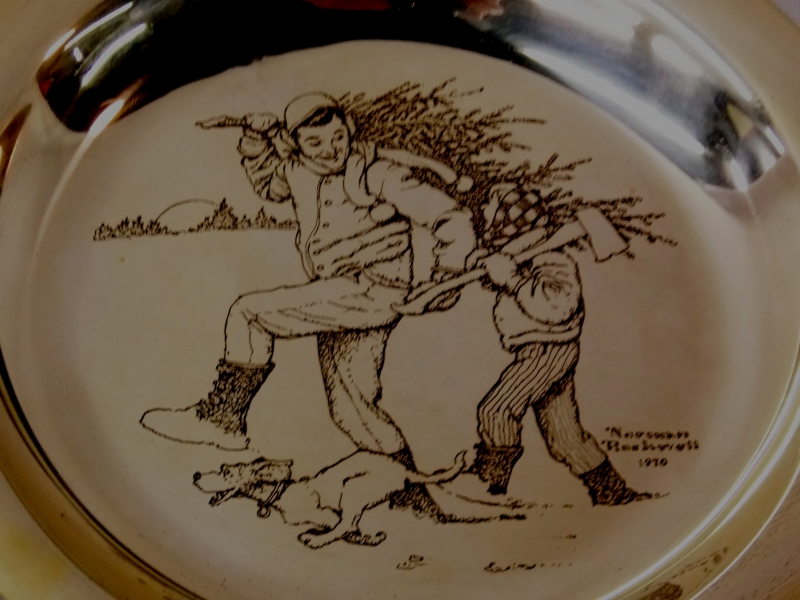 View 2~STERLING FRANKLIN MINT-NORMAN ROCKWELL PLATE, 1976