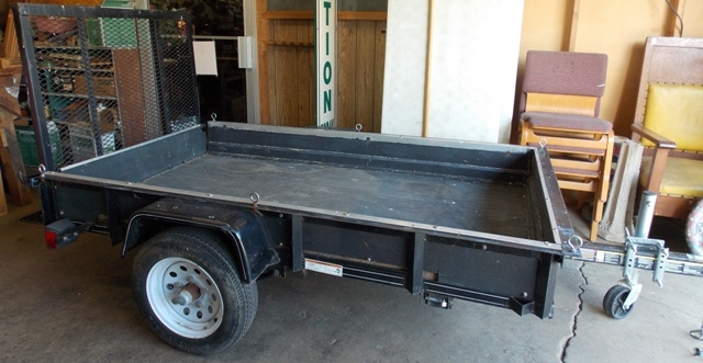 TRACTOR SUPPLY 2-WHEEL TRAILER FOR RIDING LAWNMOWER