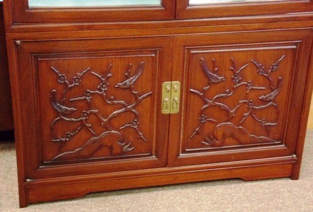 VIEW 2~ROSEWOOD CURIO DISPLAY CABINETS