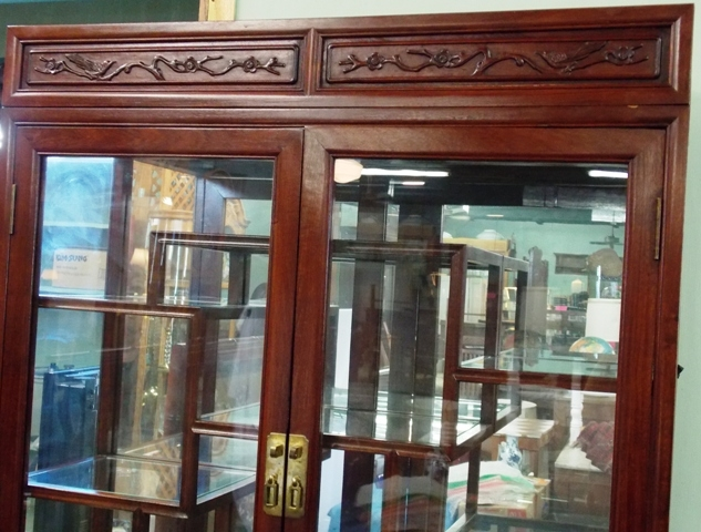 VIEW 3~ ROSEWOOD CURIO DISPLAY CABINETS