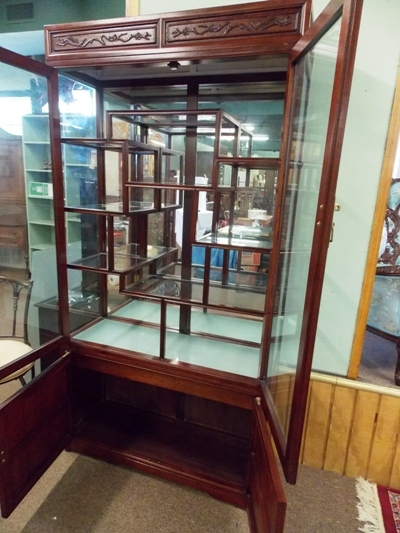 VIEW 4~ ROSEWOOD CURIO DISPLAY CABINETS