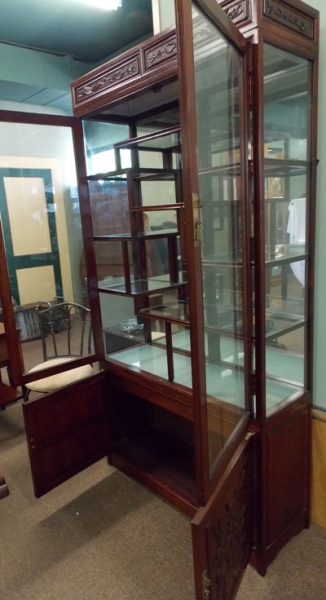 VIEW 5~ ROSEWOOD CURIO DISPLAY CABINETS
