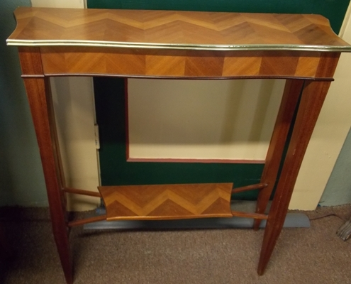 NARROW MARQUETRY WALL TABLE