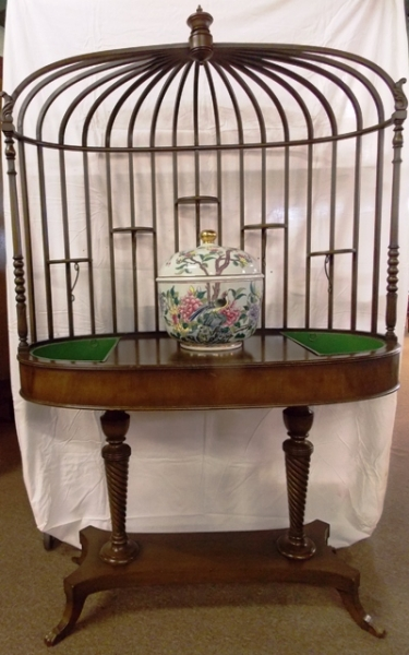OVAL ETAGERE' DISPLAY TABLE FROM THE Movie Star-ROSALINE RUSSELL ESTATE, L.A....