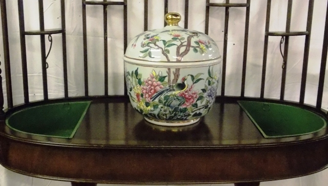 """13""""T ORIENTAL COVERED POT"""