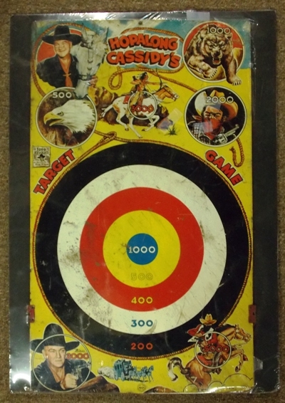 HOPALONG CASSIDY'S TARGET GAME BY MARC