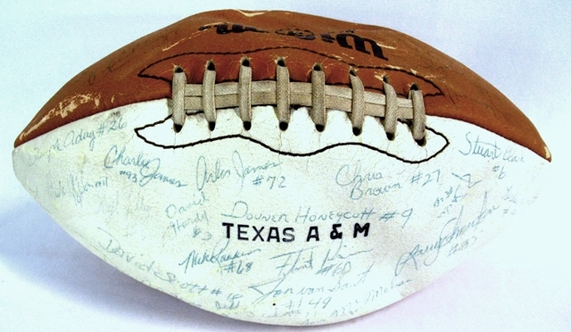 SIGNED TEXAS A&M FOOTBALL