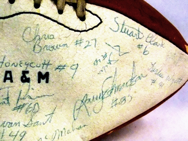 VIEW 2~SIGNED TEXAS A&M FOOTBALL
