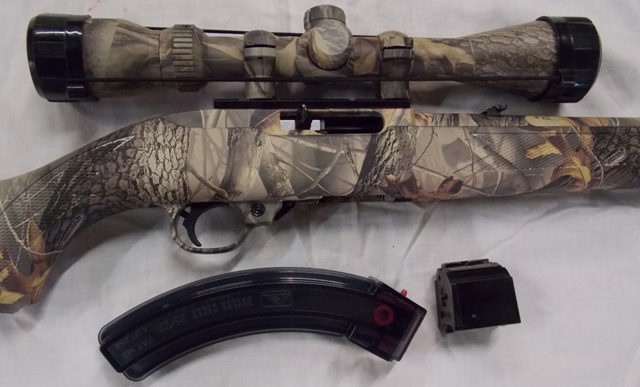 View 2~RUGER & CO .22 CAMAFLAGUE RIFLE & SCOPE