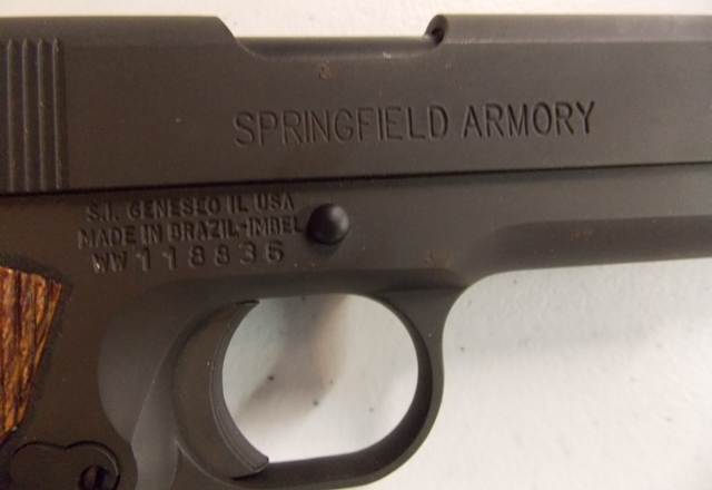 View 3~SPRINGFIELD ARMORY .45 CAL PISTOL