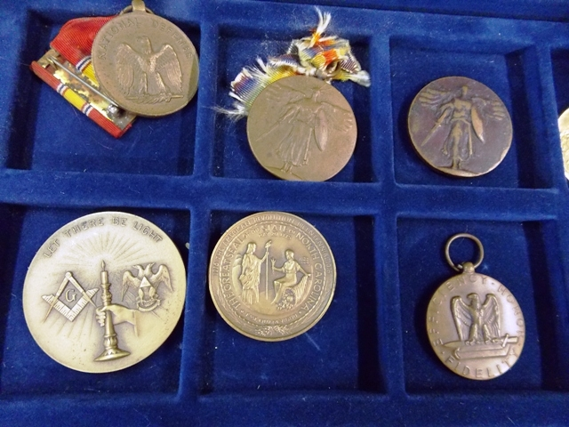 View 2~COLLECTION 32 WATCH FOBS, SERVICE MEDALS, TOKENS
