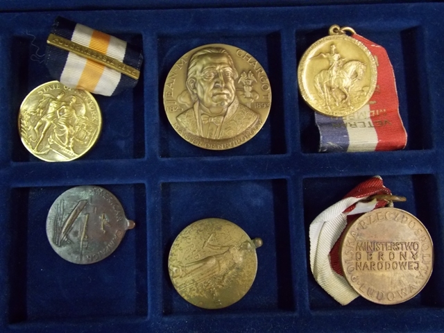 View 3~COLLECTION 32 WATCH FOBS, SERVICE MEDALS, TOKENS