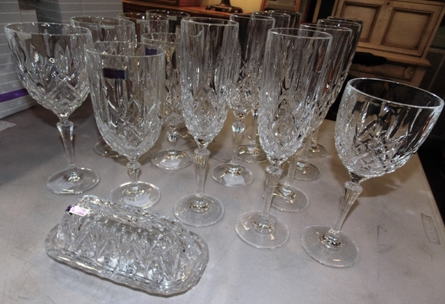 MARQUIS BY WATERFORD STEMWARE, BUTTER W/BOXES