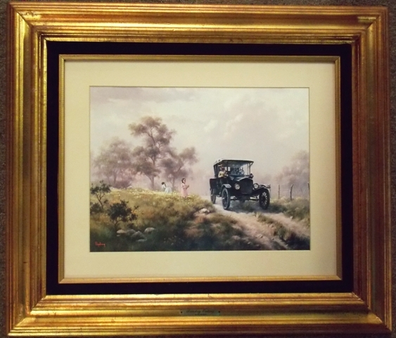 """""""SUNDAY OUTING"""" WINDBERG PRINT, SIGNED & DATED"""