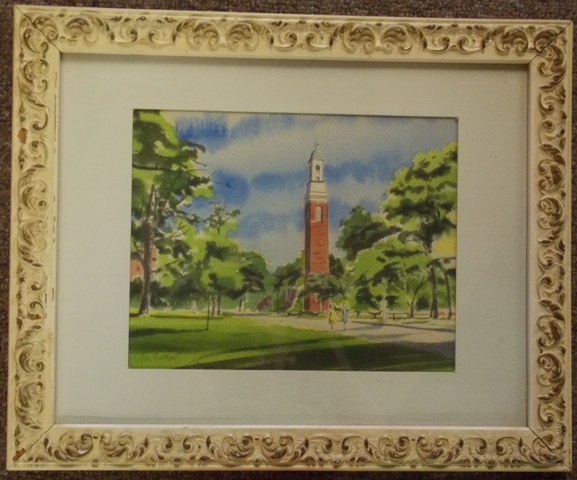 WATERCOLOR BY PAUL ANDREWS, PUBLIC STRUCTURES