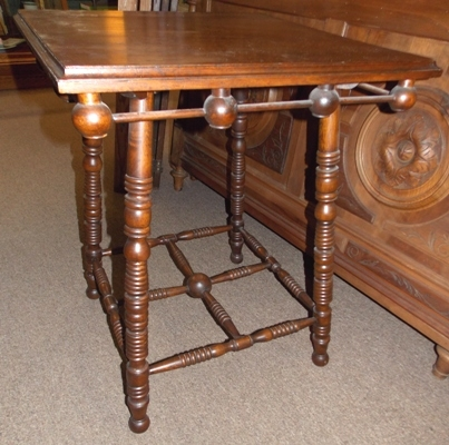 1900'S STICK-N-BALL CENTER TABLE