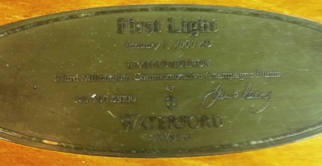"""#2~""""FIRST LIGHT"""" 3rd MILLENIAM COMMERATIVE CHAMPAGNES IN BOX"""